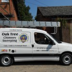 Chimney sweeping vehicle.