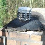 An inappropriate Chimney setup for solid fuel combustion.
