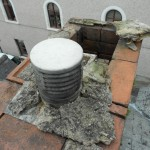 A poorly maintained chimney stack